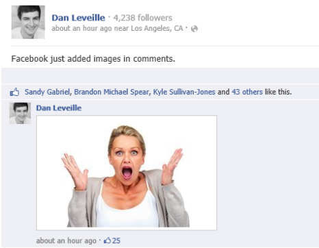"Brands can use images in Facebook Comments, Too  Should change ""engagement"" on social site"