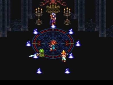 (Battle with Magus in Fiendlord's Keep: Retrieved from http://firsthour.net/screenshots/chrono-trigger/chrono-trigger-magus-fight.jpg.)