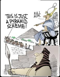 Pyramid scheme cartoon. Retrieved from http://www.isherbalifeapyramid.com/williamackman.html.